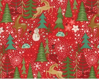 Berry Merry Scarlet Reindeer Games 30470 11 by BasicGrey  for Moda
