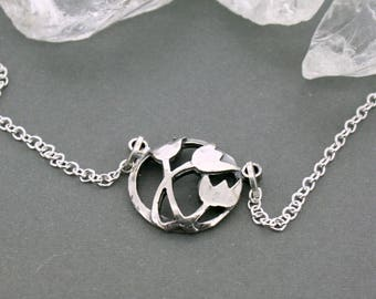 Domed Tulip Necklace