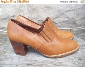 Birthday Sale Heeled Leather Loafers By Bandits Size 7.5 Made In Brazil
