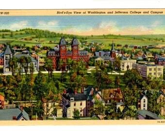 WASHINGTON and JEFFERSON COLLEGE, Washington Pennsylvania Vintage Postcard