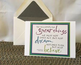 Inspiring Quote Notecard, Blank Inside