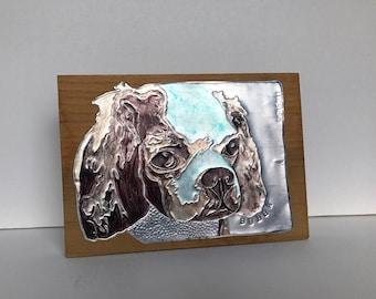 Recycled Metal Custom Dog Breed Art