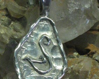 Queen Guinevere 's Swan Sterling Silver Pendant . Celtic Swan. Swan of Avalon.