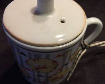 Vintage Cup with Lid