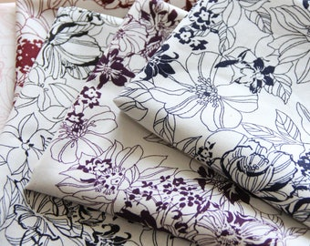 SALE) scrap bundle - floral fabrics - 5 pieces x (28cm x 30cm)