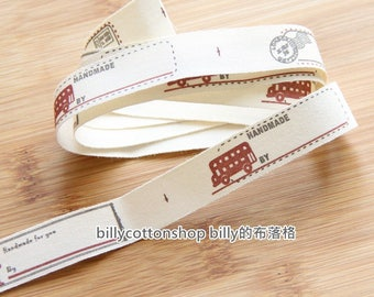 m344 - cotton tape/ sewing tape/ Ribbon -  bus