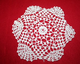 Vintage Hand Crocheted Doily- 7 inch