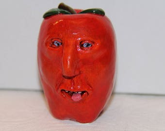 Red Apple Ornament or Figure