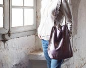 Private Listing for Lisa - Mauve Pink Shimmer Suede Tote with Tassels and Plain Strap