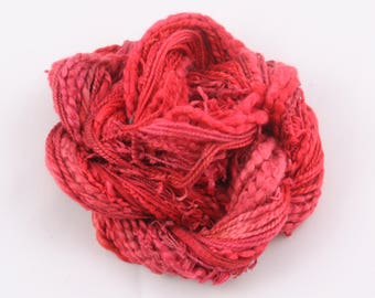 Poppy Red shades hand dyed Thread weaving thread sewing quilting cotton ribbon Embroidery thread embellishment Waldorf doll hair