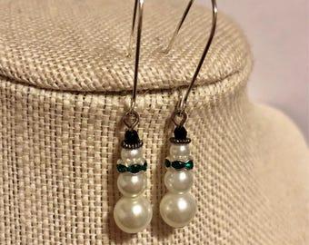 Little Snowman Earrings - Christmas Earrings