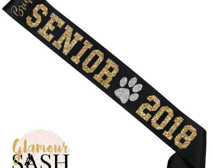 Featured listing image: Senior Cheer Sash - Cheerleader Sash - School Sash - Cheer Senior - Senior Night - Dance Sash - Dance Team - Custom Sash - Personalized