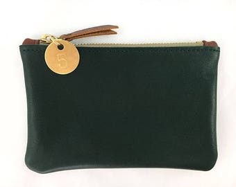 READY TO SHIP: Leather Zip Wallet (multiple colors)