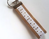 Mini KEY FOB- Gold Pineapple Key Chain- Womens Key Ring- Womens Wristlet Key Fob- Womens Gift for Her Under 10- Best Friend Gift Idea