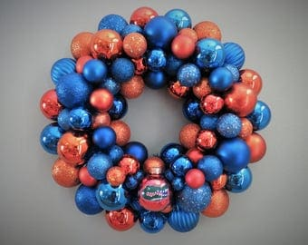FLORIDA GATORS Ornament Wreath with GATOR head ornament