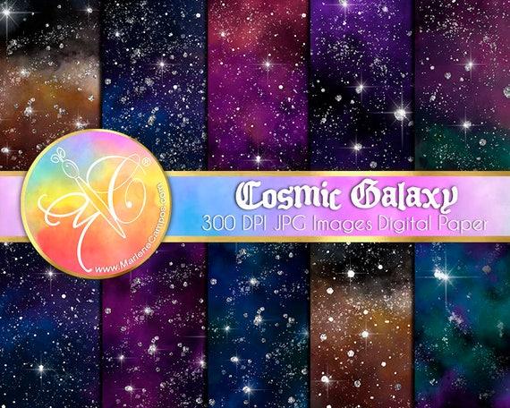 Galaxy Digital Paper Cosmic Celestial Digital Paper Night Sky