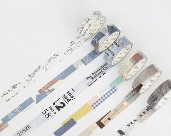M579 Collage Washi Tape / Masking Tape, 15mm x 7m masking tape, scrapbooking, journal washi, gift wrap, art washi tape, deco journal