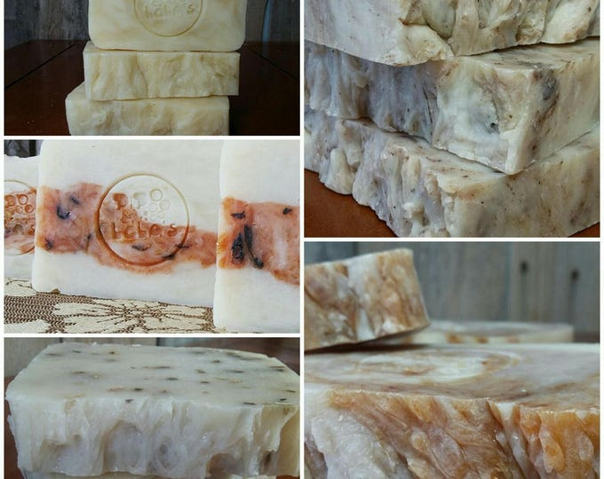 10 Pack Assorted Pip & Lola's Handmade Barely-Scented Soaps