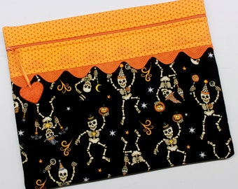 Skeleton Dance Cross Stitch, Sewing, Embroidery Project Bag
