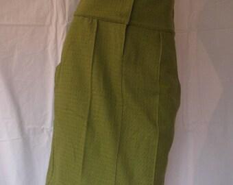bronze green wool with polka dots skirt