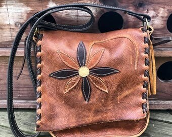 Flower power cross body bag