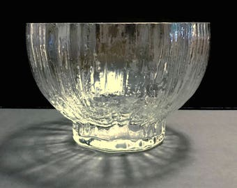 "Structure by Rosenthal crystal art glass centerpiece bowl, 8"" ice texture, footed"