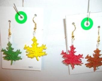 Autumn Maple Leaves Earrings  O