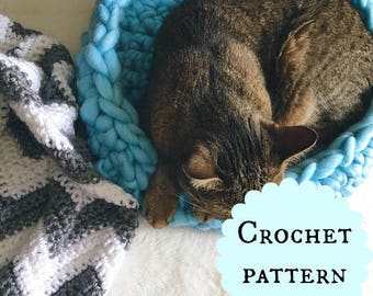 Pet Nest | Kitty Nest | Crochet Pet Bed | Cat Bed | Dog Bed | Dog Nest