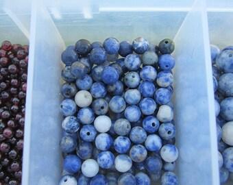 6mm Sodalite Gemstone Beads