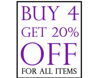 Buy Any 4 Items And Get 20% Off, Coupon Code SALE20, Discount Coupon, 925 sterling silver, Jewelry, Judaica, Gift, All Items Included