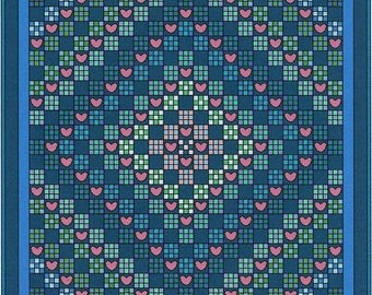 Love Trip Quilt Pattern by Curlicue Creations