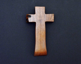 Unique Wood Cross; Christian; Cross Wall Decor; Wall Cross; Mesquite; Wedding Gift; Sympathy Gift; Free Ground Shipping USA; cc15-203082018