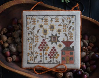 NEW Sampler House 4 counted cross stitch patterns by Plum Street Samplers at thecottageneedle.com