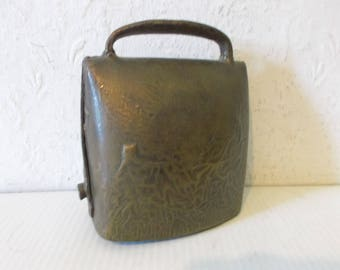 Antique 1900s Brass Farmhouse Bell Handcrafted Livestock Bell