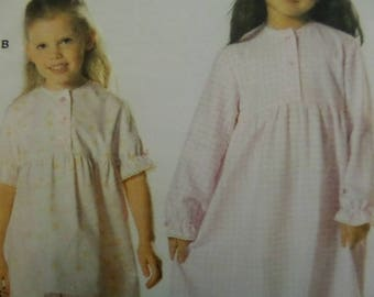 RUFFLED NIGHTGOWN Pattern • Burda 9766 • Girls 3-8 • Girls Pajamas • Button Nightie • Sewing Patterns • Childrens Patterns • WhiletheCatNaps