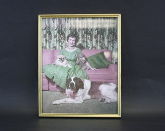 Vintage Ornate Gold 8x10 Photo Frame with Betty White (E8532)