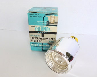 Thermos Brand Replacement Filler for Wide Mouth Threaded Vacuum Bottles No. 60F New Old Stock NOS