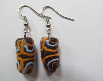 Brown Tribal Earrings