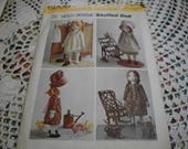 Holly Hobbie Stuffed Doll Pattern Simplicity 6006