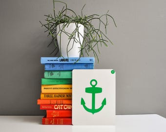Vintage Over-Sized Anchor Flash Card