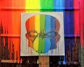 Gaylien Urban Street Art Painting on Canvas 100cm x 100cm - Original Art - Not Print