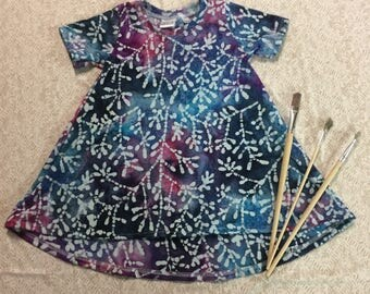 Jewel Tone Tie Dye Flowers Custom Dress Summer Collection LIMITED