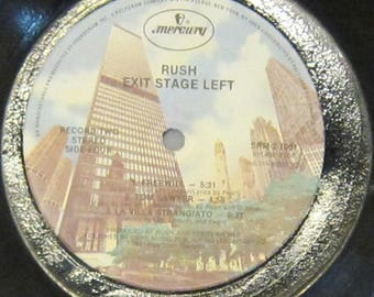 Rush - Exit Stage Left - UPCYCLE Vinyl Record Bowl