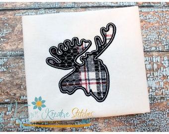 Moose Silhouette Applique