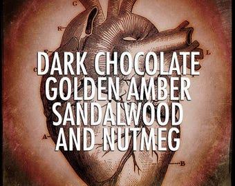 Dark Chocolate, Golden Amber, Sandalwood and Nutmeg Hair Gloss 4oz by Black Phoenix Alchemy Lab and Trading Post