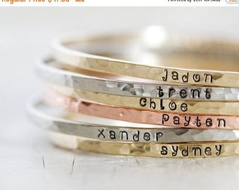 BACK 2 SCHOOL SALE Custom Name / Personalized / Gift for Her / Graduation / Gift Mom / Name Bangles / Mothers Day / Name Bracelet / Mothers