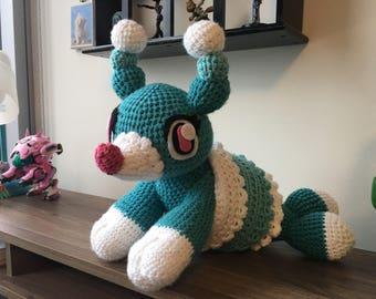 Crochet pokemon Brionne amugurmi plush