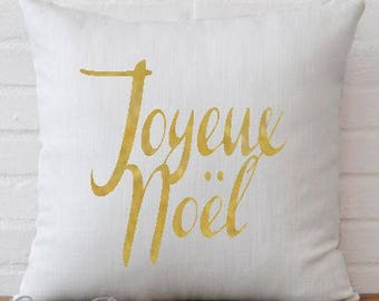 Joyeux Noel Christmas Cover Decorative Throw Pillow Case Cover