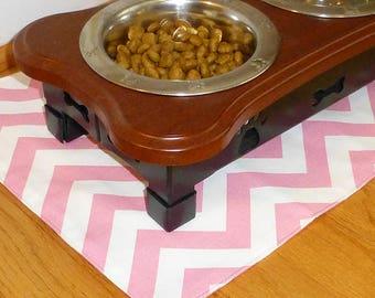 Placemat for Pet, Food Mat for Pet, Pet Placemat for Pet, Dog Food Mat for Pet, Pink Pet Placemats, Dog Bowl Mat for Pet, Dog Feed Bowl Mat
