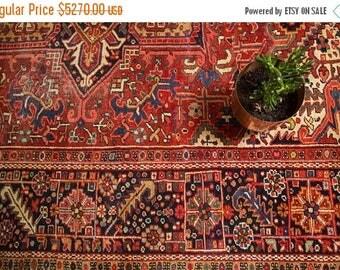 10% OFF RUGS 9x12 Vintage Heriz Carpet